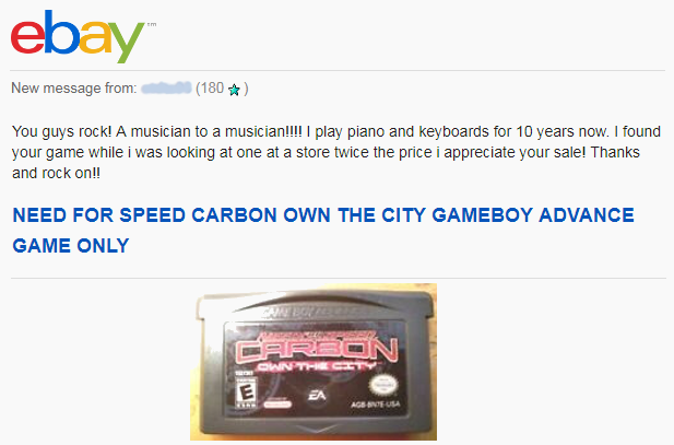 Ebay Customer Testimonial